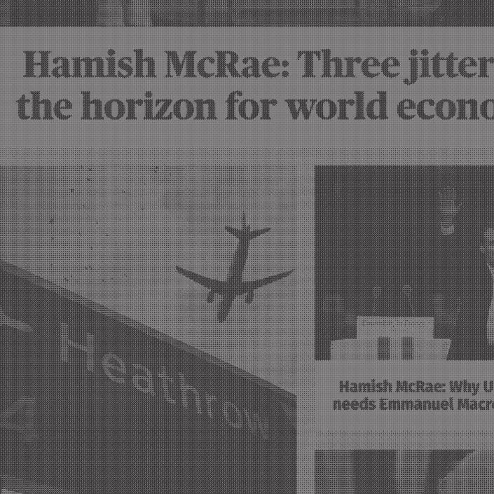 Hamish McRae articles for the Evening Standard